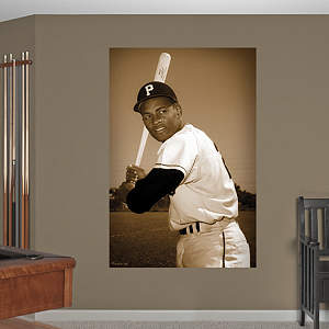 Roberto Clemente - Batting Mural Fathead Wall Decal