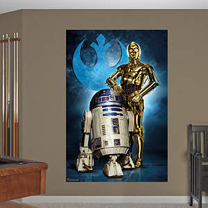 R2-D2™ & C-3PO™ Mural Fathead Wall Decal