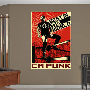 CM Punk - Best In The World Mural Fathead Wall Decal