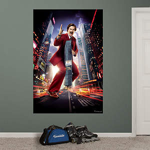 Anchorman 2 Ron Burgundy Skyscraper Mural Fathead Wall Decal