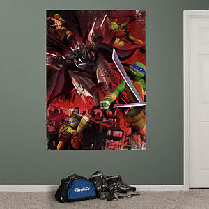Teenage Mutant Ninja Turtles Shredder Battle Mural Fathead Wall Decal