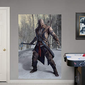Connor Battle Ready Mural: Assassin's Creed III Fathead Wall Decal