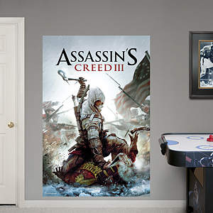 Cover Art Mural: Assassin's Creed III Fathead Wall Decal