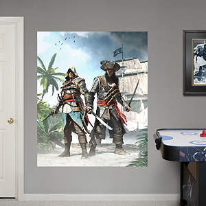 Edward & Blackbeard Duo Mural: Assassin's Creed IV Fathead Wall Decal