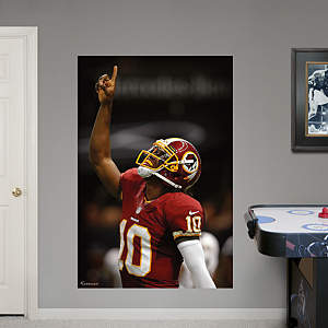 Robert Griffin III Point Mural Fathead Wall Decal