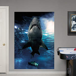 Shark Underwater Mural Fathead Wall Decal