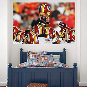 Redskins Helmets In Your Face Mural Fathead Wall Decal