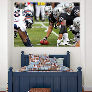 Raiders-Broncos Line of Scrimmage Mural Fathead Wall Decal