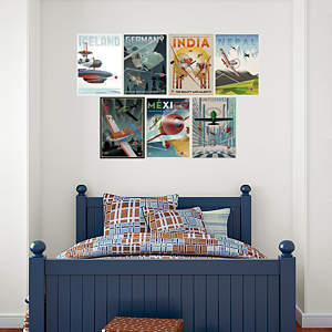 Planes Vintage Poster Collection Fathead Wall Decal
