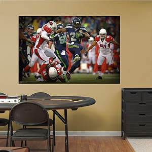 Marshawn Lynch In Your Face Mural Fathead Wall Decal