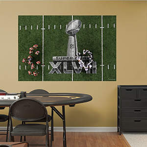 Baltimore Ravens Super Bowl XLVII Overhead Huddle Mural Fathead Wall Decal