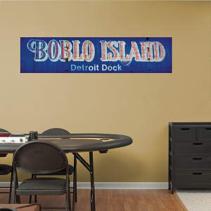 Boblo Island Sign Mural Fathead Wall Decal