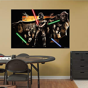 Star Wars™ Saga Collage Mural Fathead Wall Decal