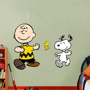 Charlie Brown and Snoopy Fathead Wall Decal
