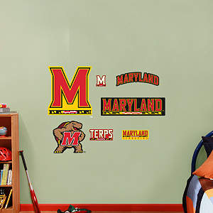 Maryland Terrapins - Team Logo Assortment Fathead Wall Decal