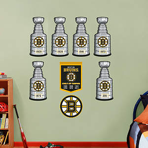 Boston Bruins Stanley Cup Collection Fathead Wall Decal