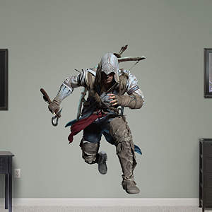 Connor Sprinting: Assassin's Creed III Fathead Wall Decal