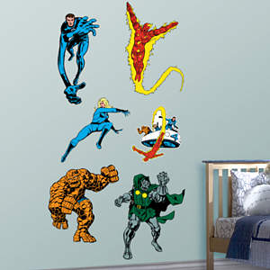 Classic Fantastic Four Fathead Wall Decal