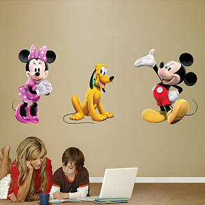 Mickey, Minnie & Pluto Fathead Wall Decal