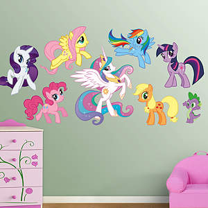 My Little Pony Collection Fathead Wall Decal