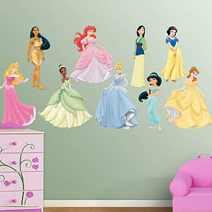 Disney Princesses Collection Fathead Vinyl Wall Decal