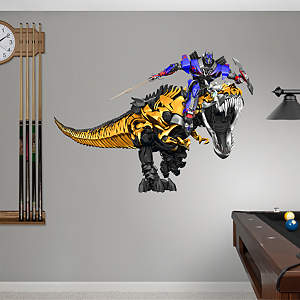 Grimlock & Optimus Prime - Age of Extinction Fathead Wall Decal