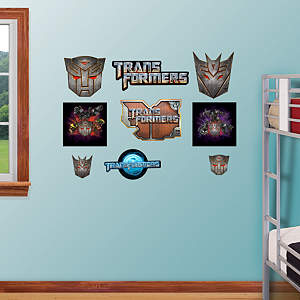 Transformers Logo Assortment Fathead Wall Decal