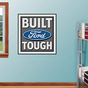 Built Ford Tough Logo Fathead Wall Decal