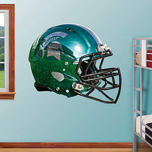 Michigan State Spartans Chrome Helmet Fathead Wall Decal