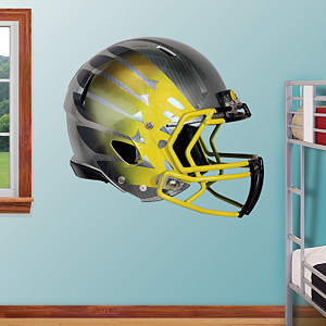 Oregon Ducks Titanium Carbon HydroSkin® Helmet Fathead Wall Decal