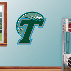 Tulane Green Wave Logo Fathead Wall Decal