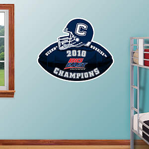 UConn Huskies 2010 Big East Champions Logo Fathead Wall Decal