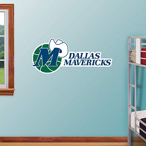Dallas Mavericks Classic Logo Fathead Wall Decal