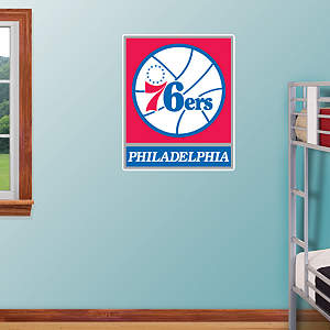 Philadelphia 76ers Logo Fathead Wall Decal