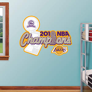 Los Angeles Lakers 2010 NBA Champions Logo Fathead Wall Decal