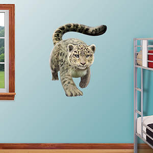 Snow Leopard Fathead Wall Decal