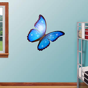 Butterfly - Morpho Blue Fathead Wall Decal