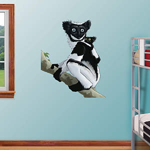 Indri Lemur Fathead Wall Decal