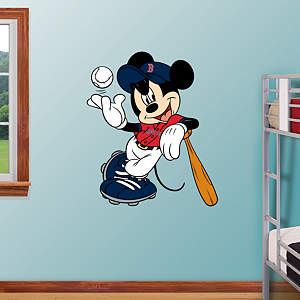 Mickey Mouse - Boston Red Sox Fathead Wall Decal