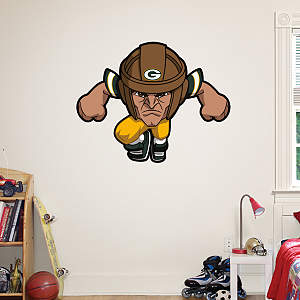 Green Bay Packers Rusher Fathead Wall Decal