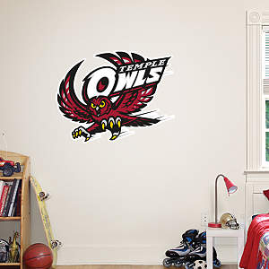 Temple Owls Logo Fathead Wall Decal