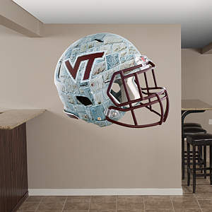 Virginia Tech Hokies Stone Helmet Fathead Wall Decal