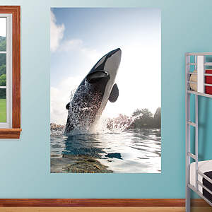 Shamu Jump Mural Fathead Wall Decal
