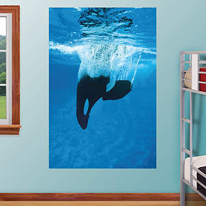 Shamu Dive Mural Fathead Wall Decal