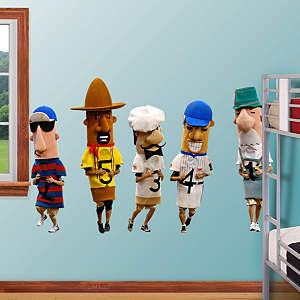 Milwaukee Brewers Mascots - Racing Sausages Fathead Wall Decal