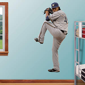 Yovani Gallardo - Pitcher Fathead Wall Decal