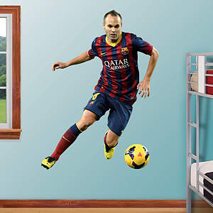 Andrés Iniesta - No. 8 Fathead Wall Decal