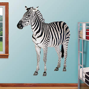Zebra Fathead Wall Decal