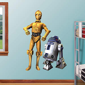 C-3PO and R2-D2 - Clone Wars Fathead Wall Decal