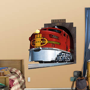 Lionel Santa Fe Train Fathead Wall Decal